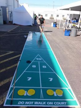 Giant Shuffleboard Game Rental Las Vegas